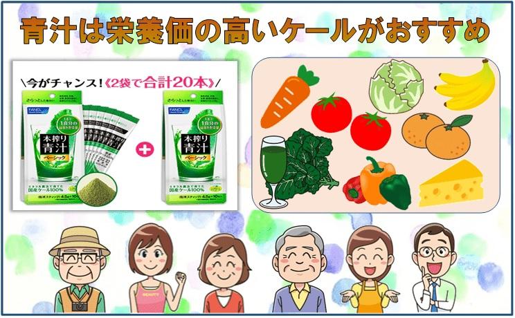 男女と野菜のイラスト画像