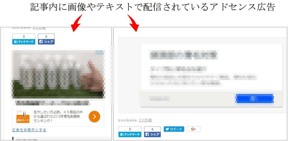 ネット配信広告の一例画像