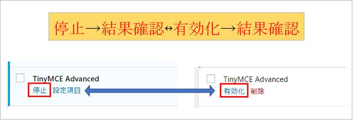 ワードプレスプラグイン TinyMCE Advancedの設定画面