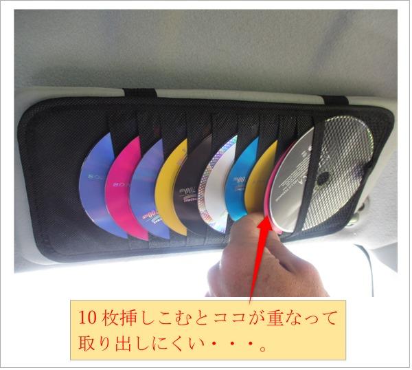 楽天サイトで購入したCDホルダーの使用例